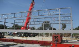 Aufbau eines Grundgerüsts eines Gebäudes